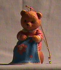 1996 Avon Sewing Hobby Bear Ornament