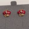 Avon Holidays  Pierced Earrings- Royal Crown