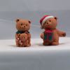 1990 Avon Holiday Hugs Porcleain Bear Figurine Set With Original Box