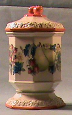 Avon Sweet Country Harvest Sugar Bowl and Lid