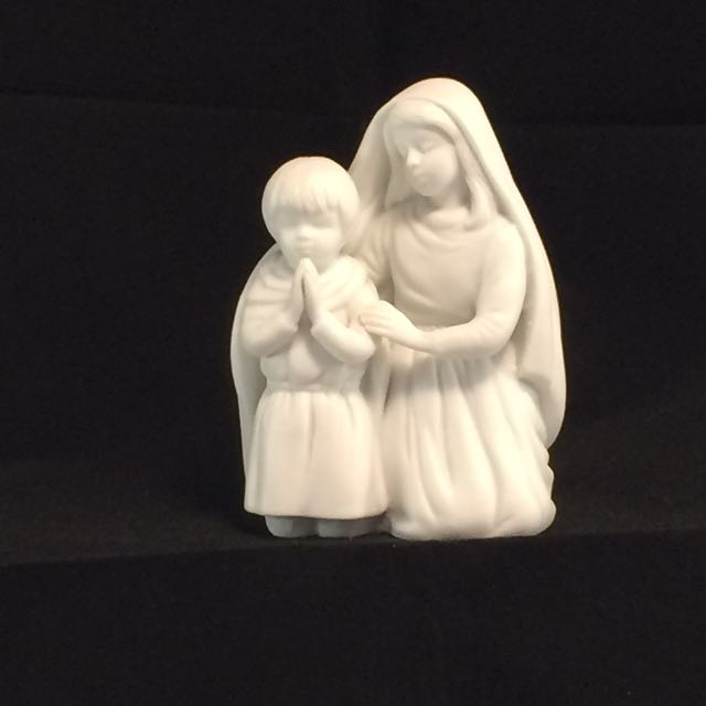 1991 Avon Nativity Children In Prayer - Avon White Bisque Nativi