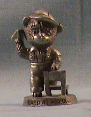 SO-1983 Avon Benjamin Bearington-Hard at Work Pewter Figurine - Click Image to Close