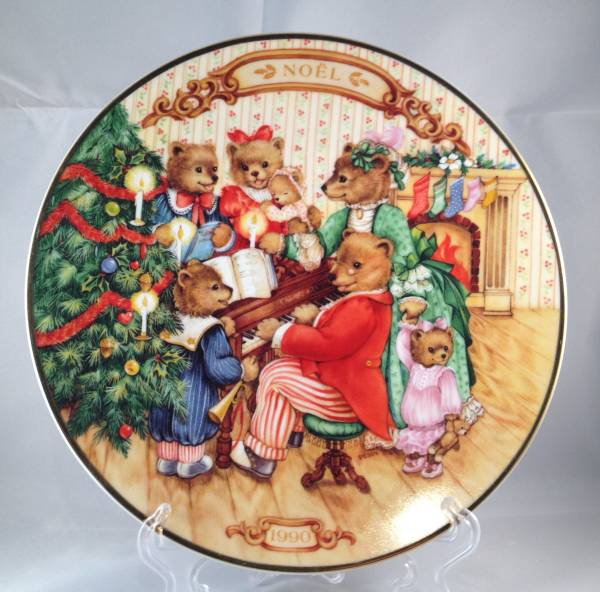 1990 avon christmas plate canada version