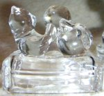 SO-1995 Avon Crystal Cat - Cat on Pillow Figurine