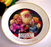 SO-1999 Avon Christmas Collectible Plate-Caucasian