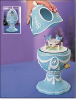 2003 Avon Bluebird Musical Porcelain Egg