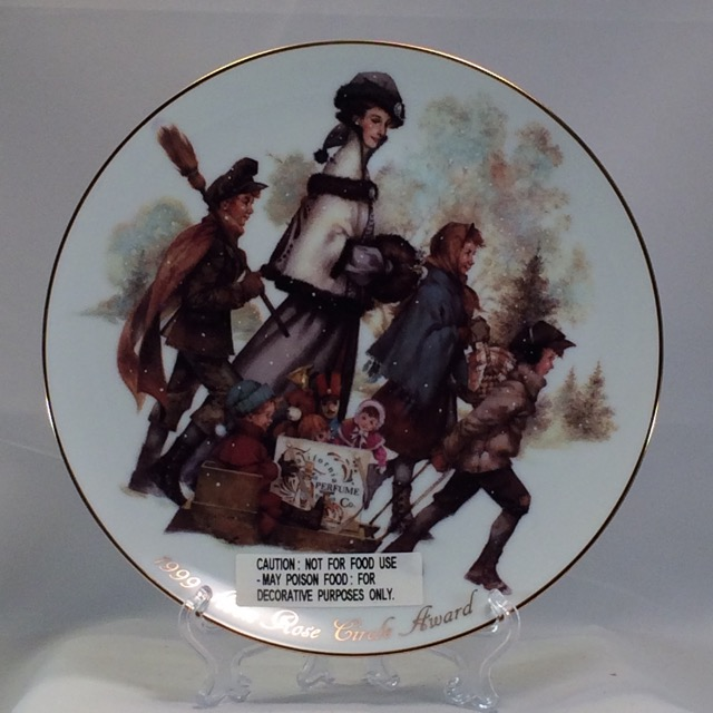 1999 Avon Albee Rose Circle Plate Award