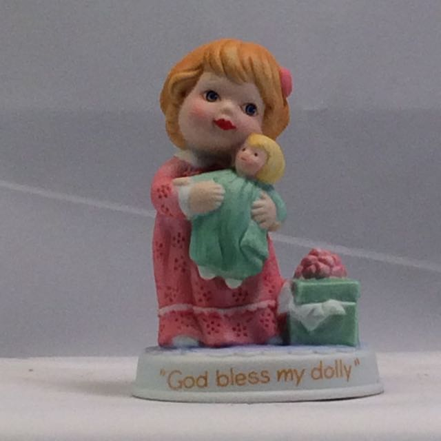 1990 Avon God Bless My Dolly Figurine