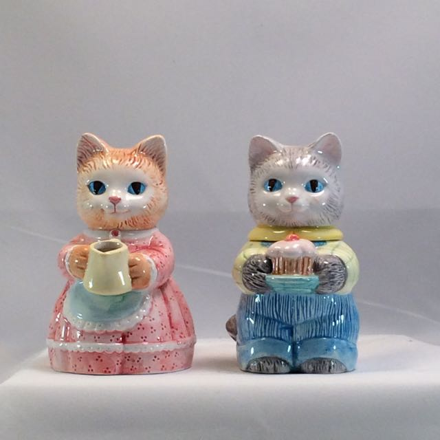 SO-1991 Avon Country Purr-Fection Cat Sugar & Creamer