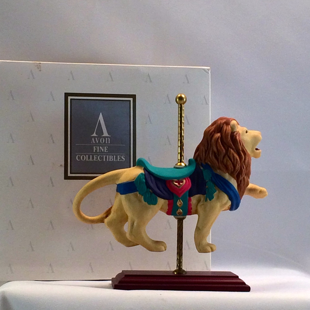1996 Avon Carousel Collection -Lion with Original Box