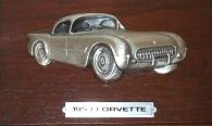 Avon Gallery Originals Pewter 1953 Corvette Car Plaque