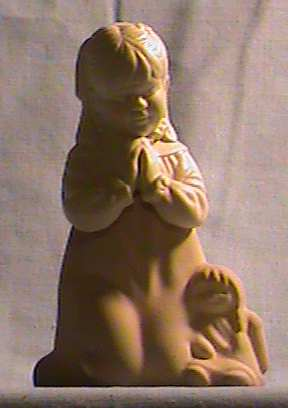 1981 Avon First Prayer Decanter/Figurine- Occur With Original Bo