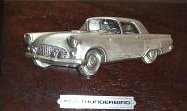Avon Gallery Originals Pewter 1955 Thunderbird Car Plaque