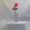 1980 Avon Fostoria Crystal Bud Vase with Pink Carnation 848-100